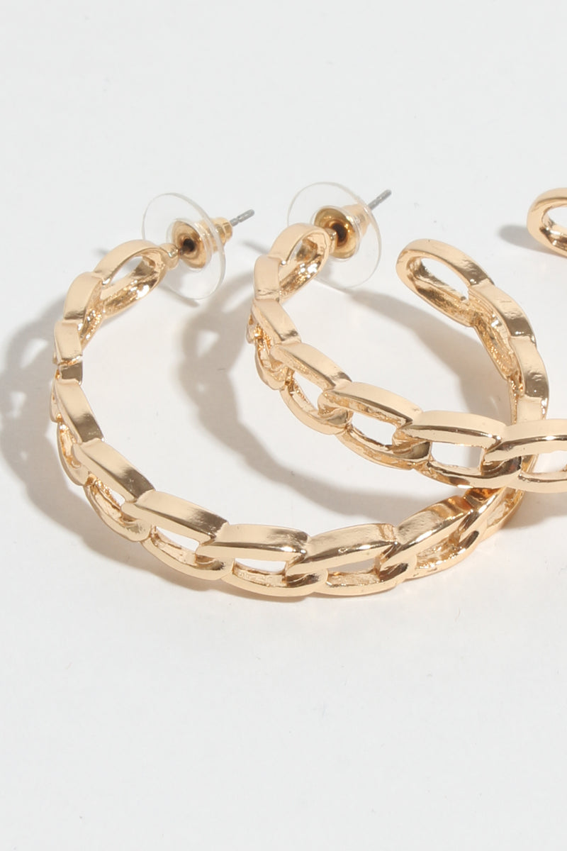 Chain Link Hoop Earring, Jewellery - Repertoire NZ, New Zealand Fashion, Womenswear, Womens Clothing