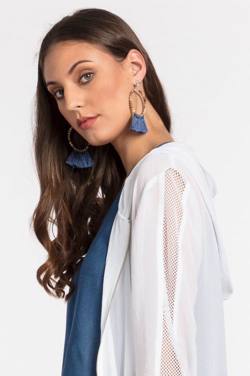Cosmo Tassel Earring, Accessories - Repertoire NZ