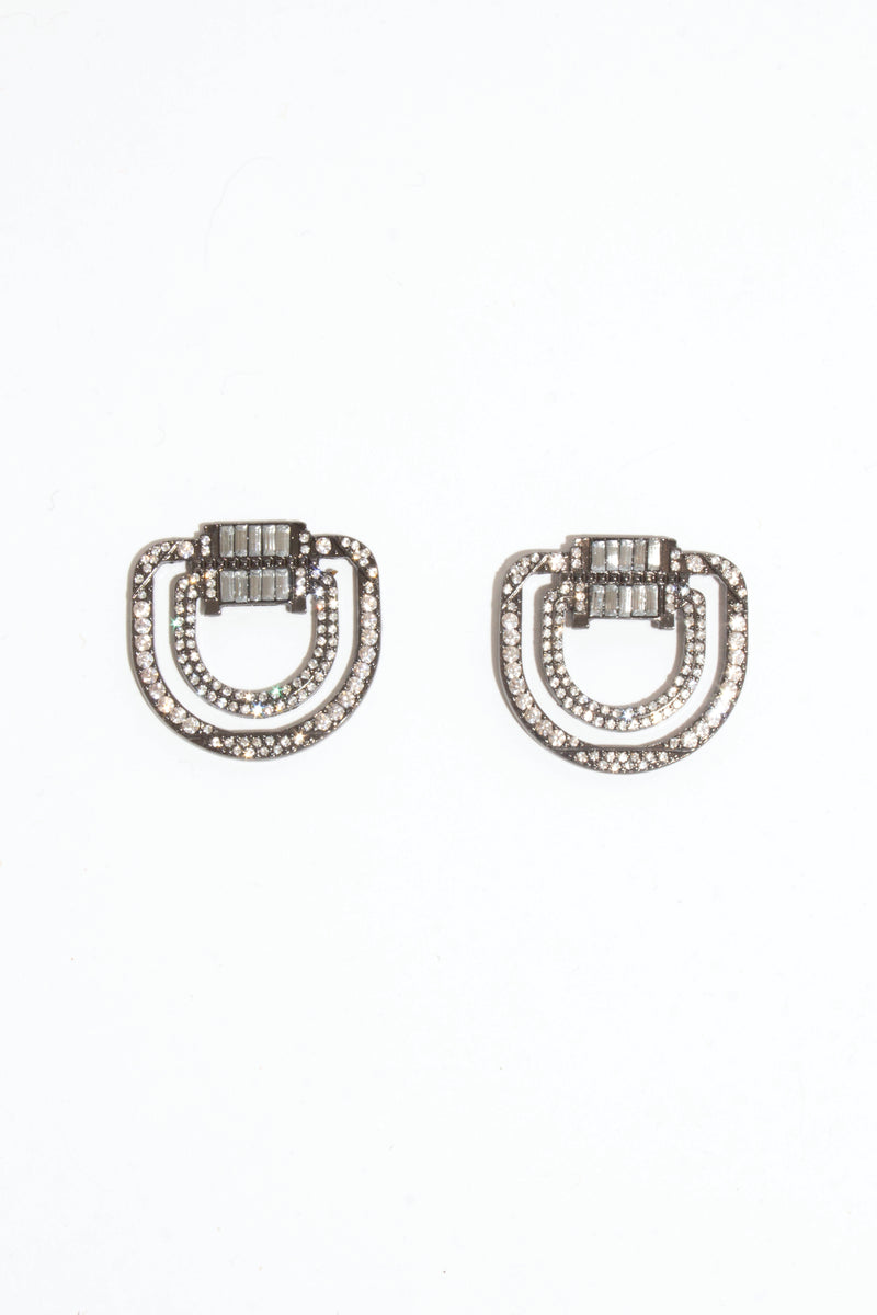 Square Diamante Earring, Jewellery - Repertoire NZ, New Zealand Fashion, Womenswear, Womens Clothing