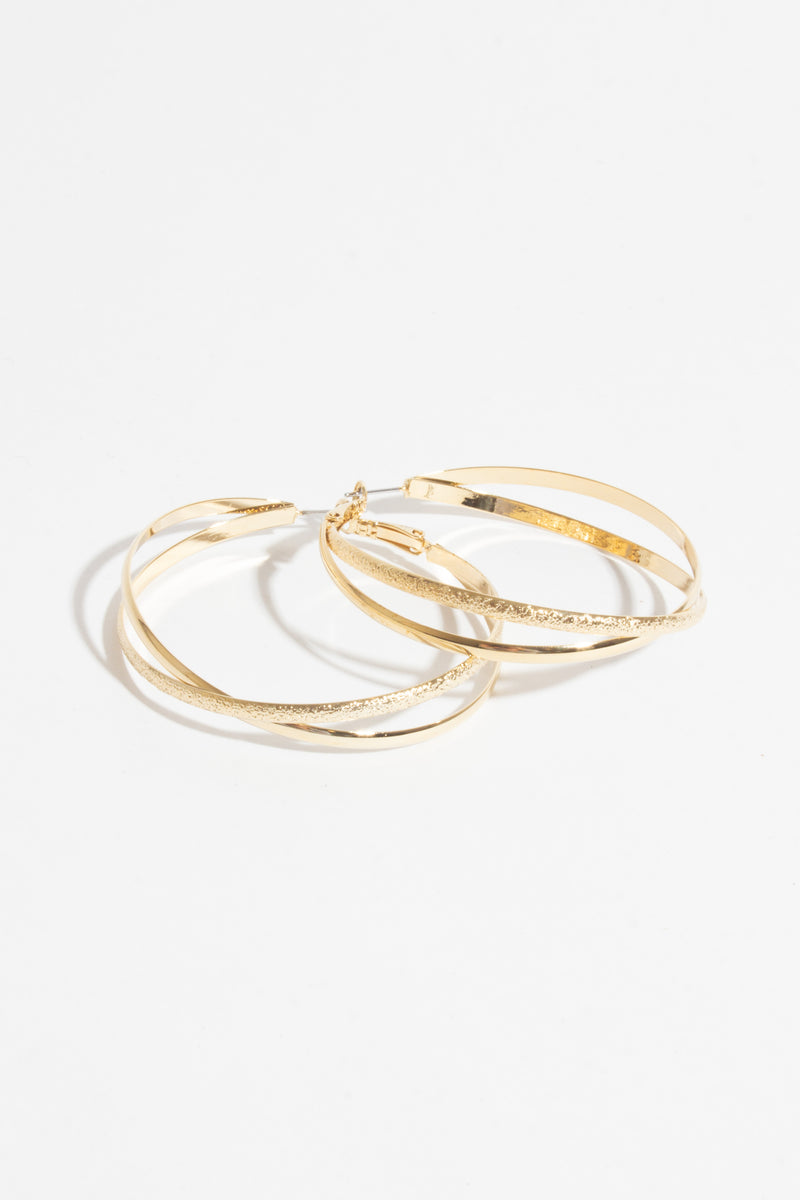 Double Hoop Earring, Jewellery - Repertoire NZ, New Zealand Fashion, Womenswear, Womens Clothing