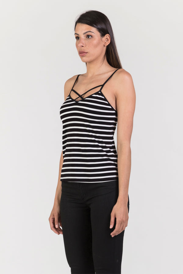 Emily Cami (Wide Stripe), Top - Repertoire NZ, New Zealand Fashion, Womenswear, Womens Clothing
