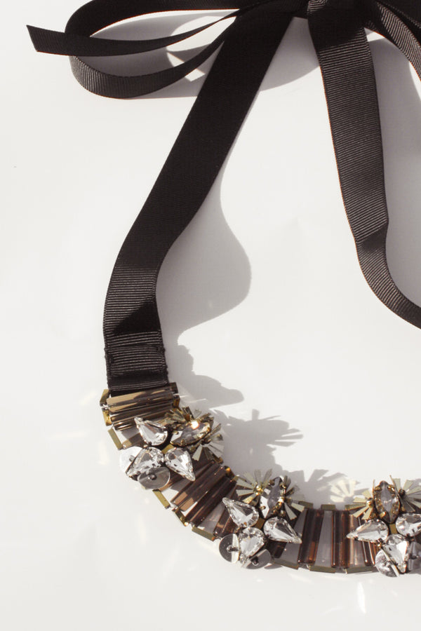 Jewelled Tie Necklace, Accessories - Repertoire NZ
