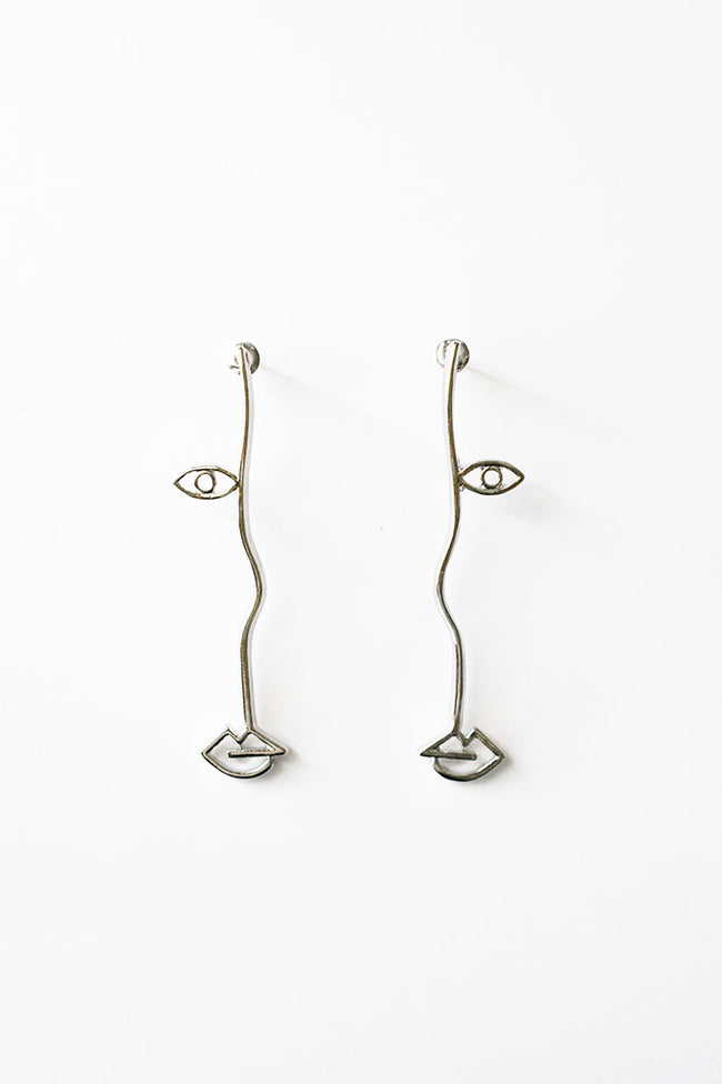 Half Face Earring, Accessories - Repertoire NZ