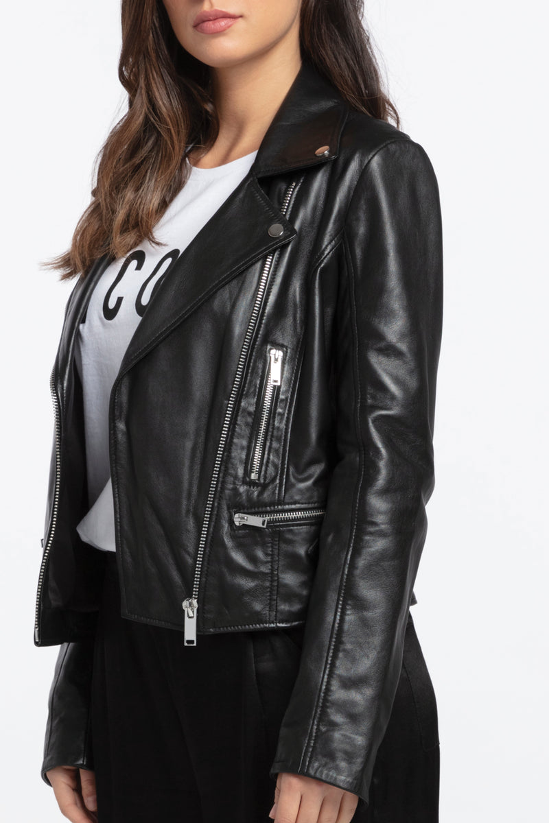 Harley Leather Jacket, Jacket - Repertoire NZ, New Zealand Fashion, Womenswear, Womens Clothing
