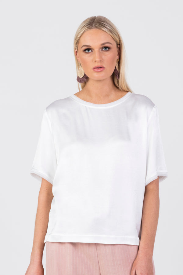 Harper Satin Top, Top - Repertoire NZ, New Zealand Fashion, Womenswear, Womens Clothing