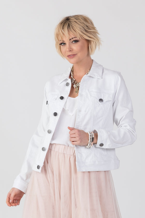 Hornsey  White Denim Jacket, Jacket - Repertoire NZ, New Zealand Fashion, Womenswear, Womens Clothing