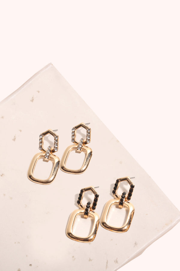 Diamante Square Earrings