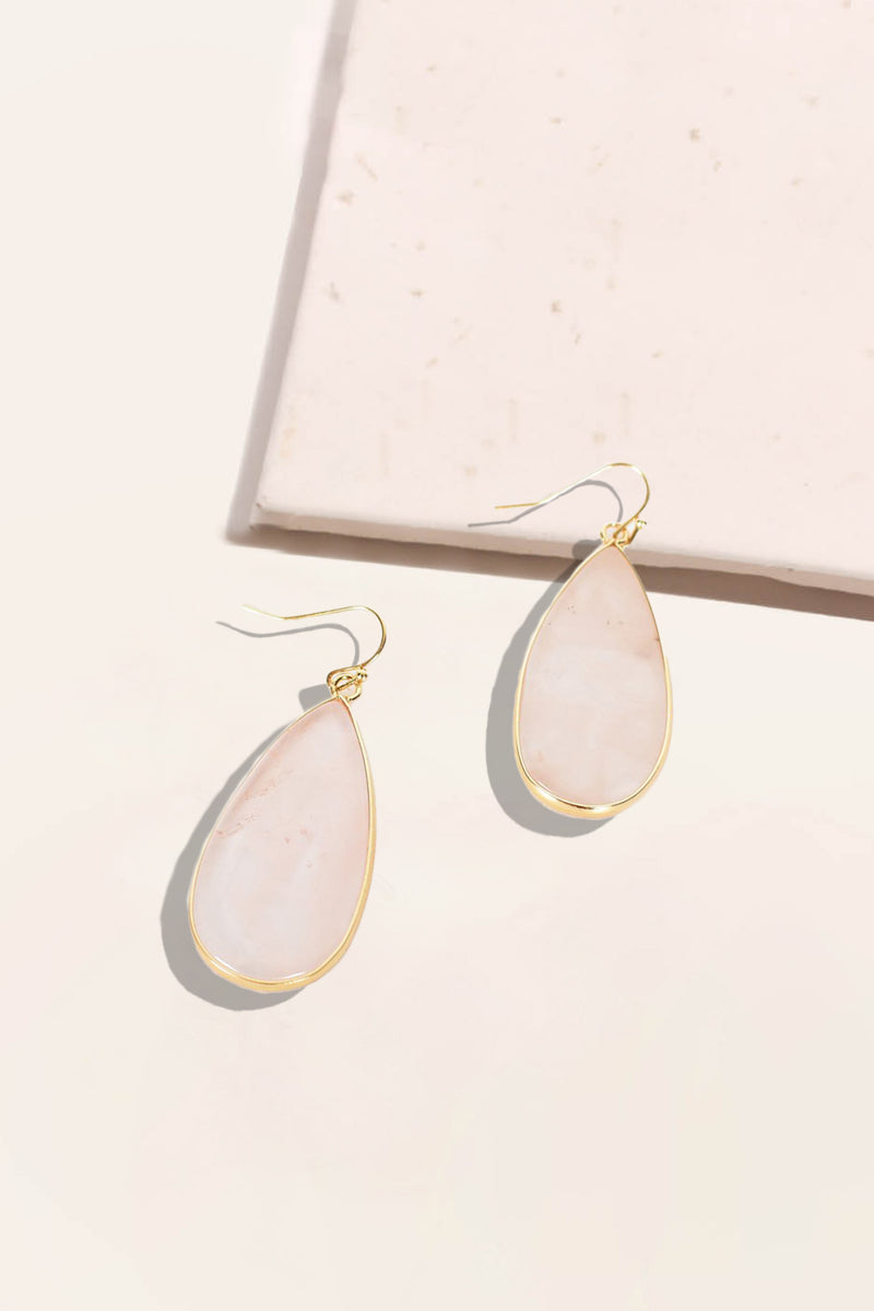 Quartz Drop Mini Earrings
