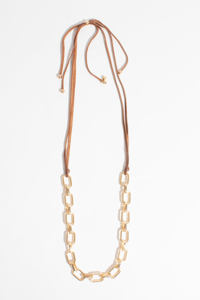 Leather & Chain Necklace, Jewellery - Repertoire NZ, New Zealand Fashion, Womenswear, Womens Clothing