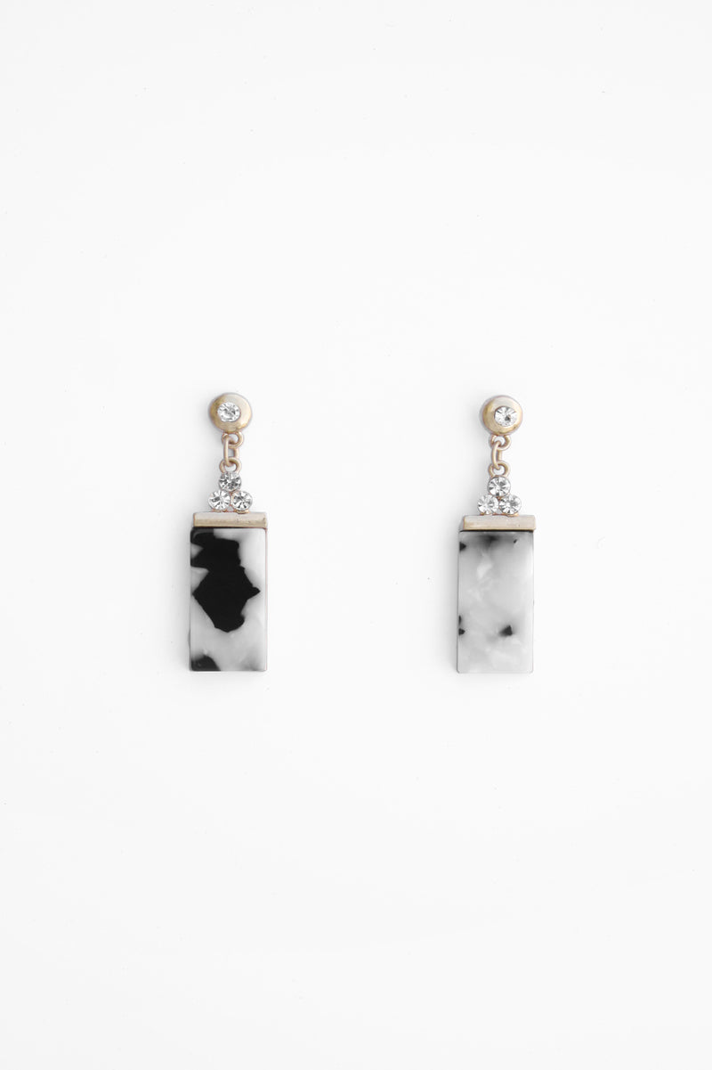 Leopard/Crystal Earring, Accessories - Repertoire NZ, New Zealand Fashion, Womenswear, Womens Clothing