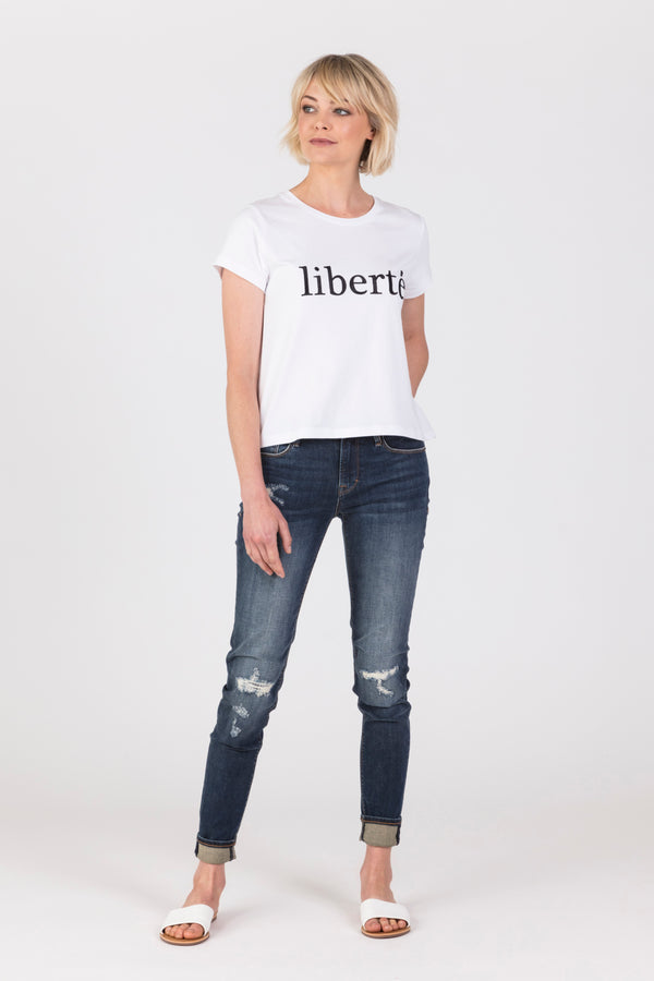 Liberte Tee, T-Shirt - Repertoire NZ, New Zealand Fashion, Womenswear, Womens Clothing