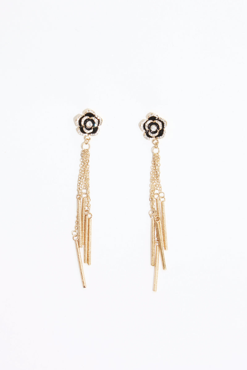Long Drop Rose Earring, Jewellery - Repertoire NZ, New Zealand Fashion, Womenswear, Womens Clothing