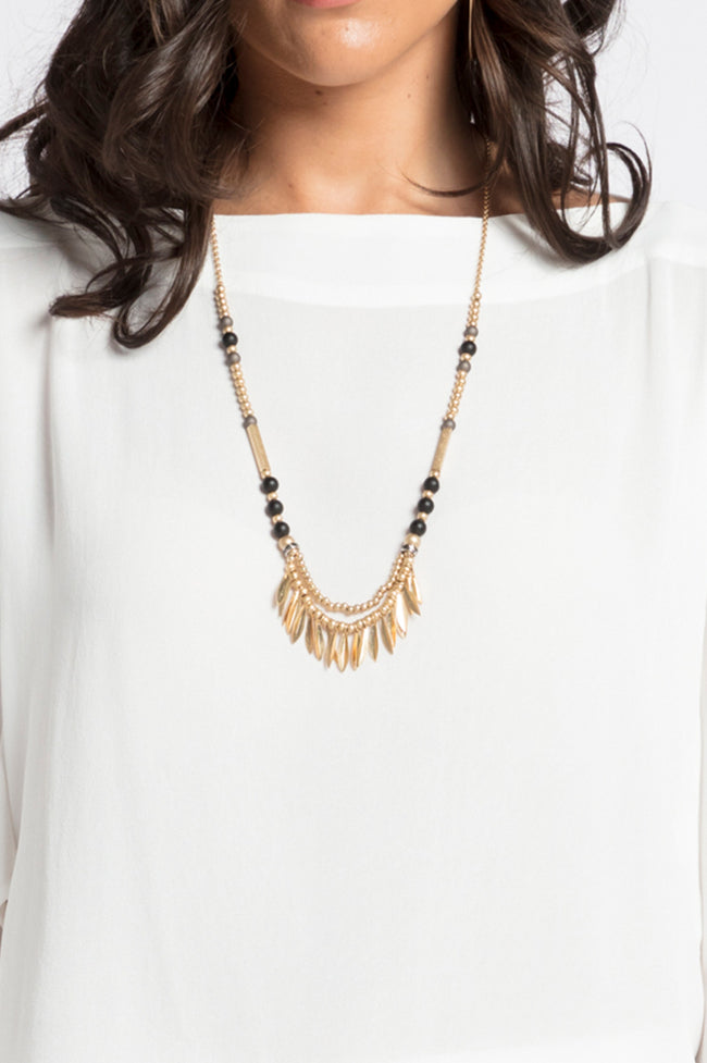 Long Leaf Necklace, Accessories - Repertoire NZ