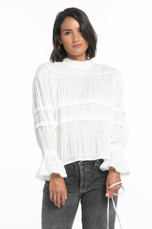 Worn White Desert Angel Top