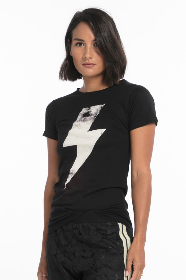 Black Lightning Fitted Tee