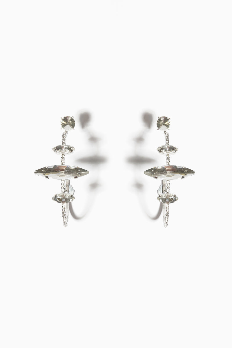 Crystal Hoop Earring, Accessories - Repertoire NZ, New Zealand Fashion, Womenswear, Womens Clothing