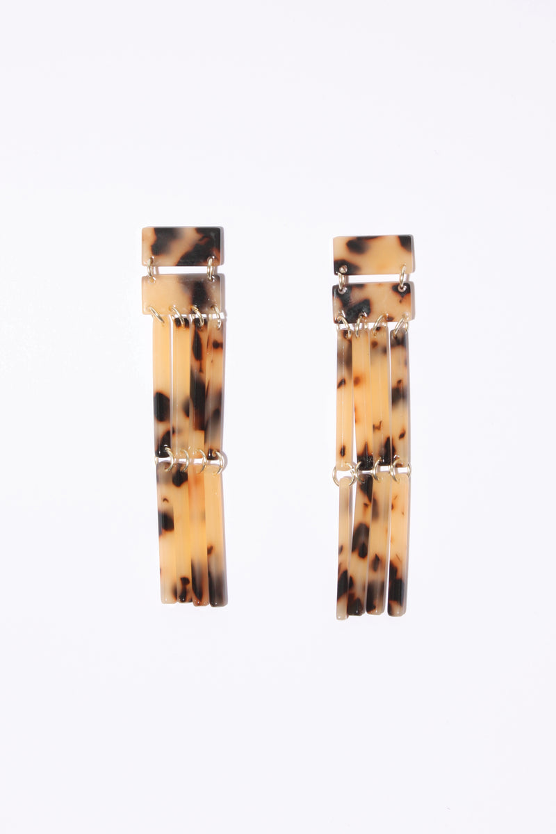 Resin Curtain Earring, Accessories - Repertoire NZ, New Zealand Fashion, Womenswear, Womens Clothing