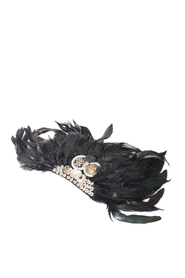 Coin & Feather Brooch, Accessories - Repertoire NZ, New Zealand Fashion, Womenswear, Womens Clothing