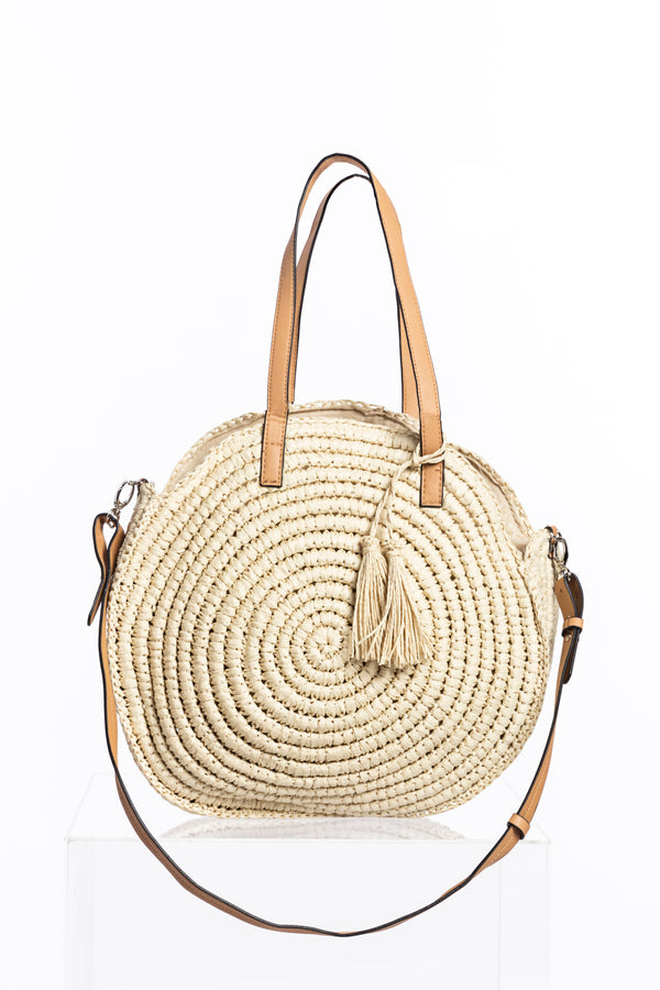Straw Round Bag, Accessories - Repertoire NZ, New Zealand Fashion, Womenswear, Womens Clothing