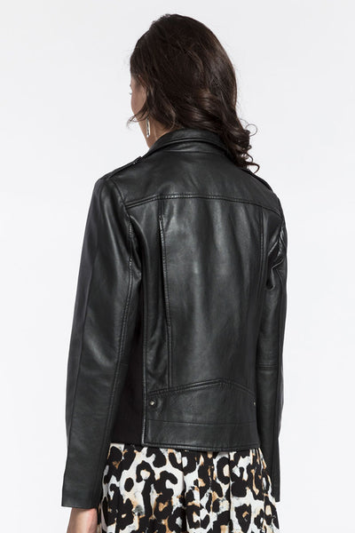 Ruby Knit Leather Jacket