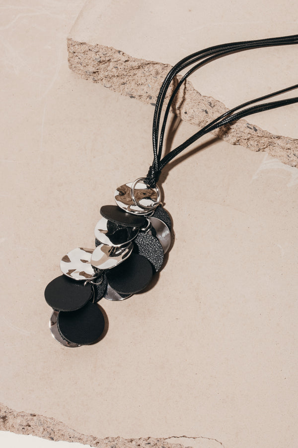 Satellite Necklace - Black, Accessories - Repertoire NZ, New Zealand Fashion, Womenswear, Womens Clothing