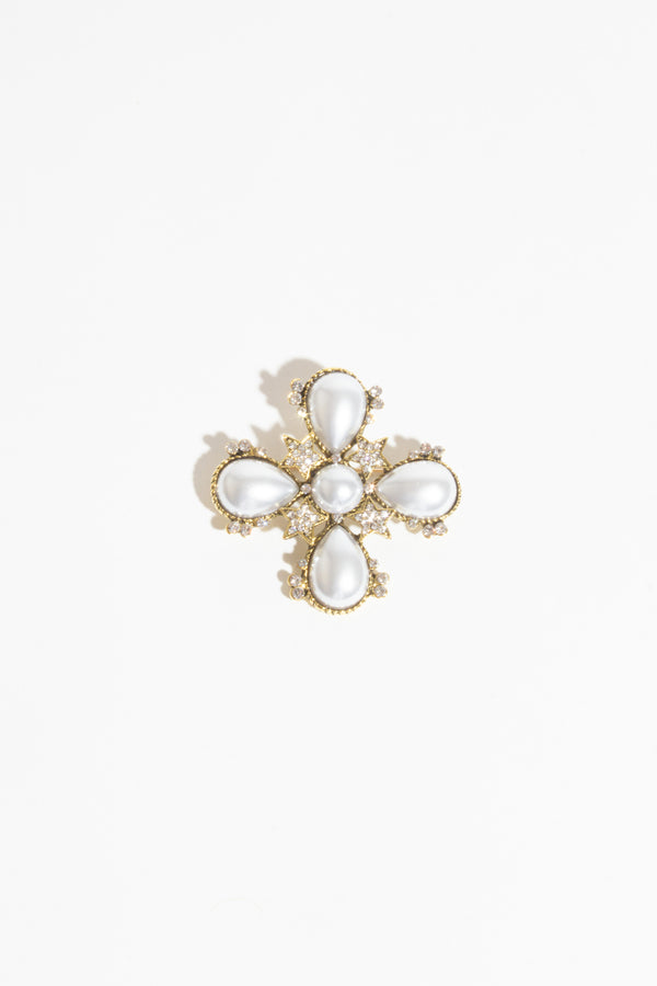Pearl & Star Brooch, Brooches - Repertoire NZ, New Zealand Fashion, Womenswear, Womens Clothing