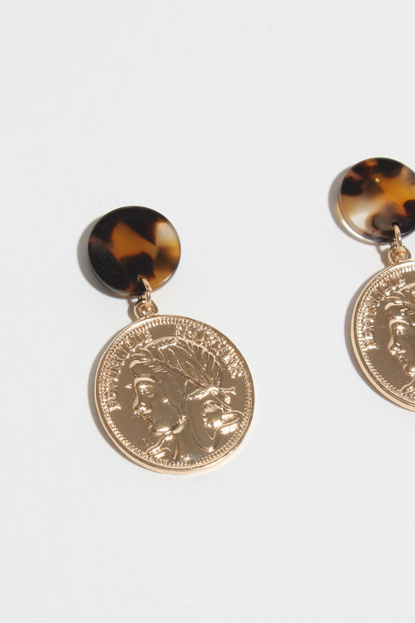 Coin & Tort Earring, Jewellery - Repertoire NZ, New Zealand Fashion, Womenswear, Womens Clothing