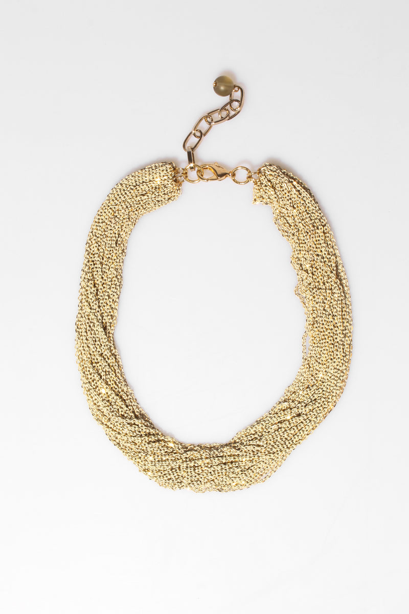 2 Tone Cut Chain Necklace, Jewellery - Repertoire NZ, New Zealand Fashion, Womenswear, Womens Clothing