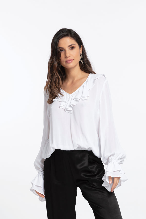 Tyler Blouse, Top - Repertoire NZ, New Zealand Fashion, Womenswear, Womens Clothing