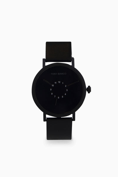 Xander Black Leather Watch