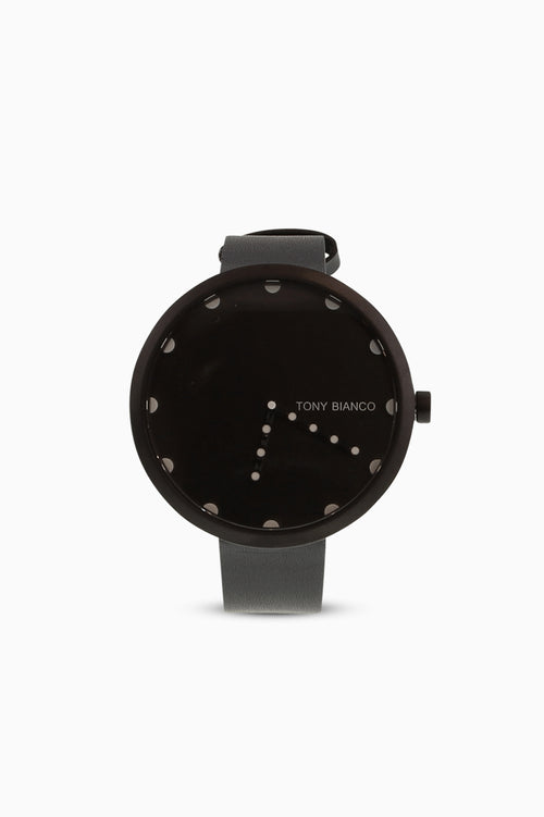 Xavier Black Leather Watch