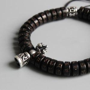 Tibetan Vajra Bracelet - Mantra of Great Compassion Carved