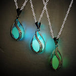 Glow In Dark Necklace Hollow Luminous Bead Pendant Long Chain