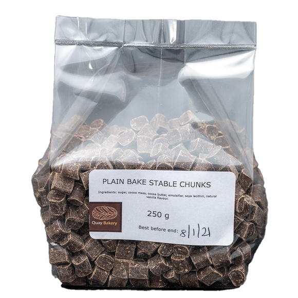 Plain bake stable chocolate chunks