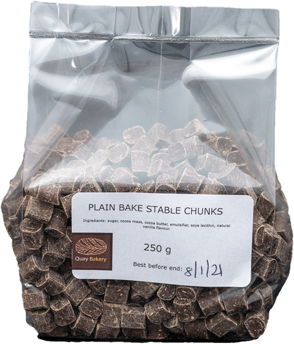 Bake stable chocolate chunks