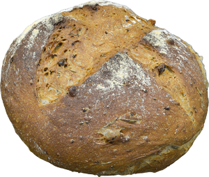 Walnut and rosemary boule