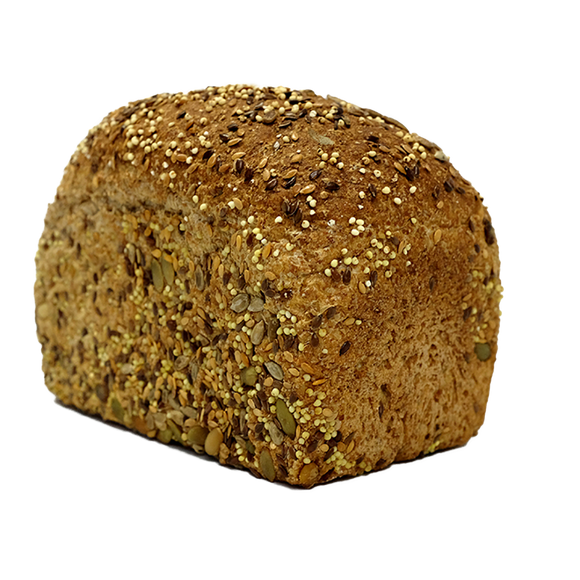 Seeded wholemeal tin