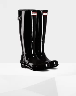 HUNTER TALL GLOSSY ADJ. BOOT