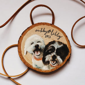 pet portrait ornaments-Ornament-2-Keona Elise