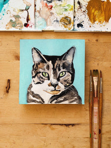miniature pet portraits-Portraits-5x5in watercolor paper-Keona Elise