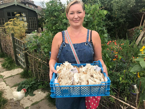 Sami at Peak District Mushroom Farm
