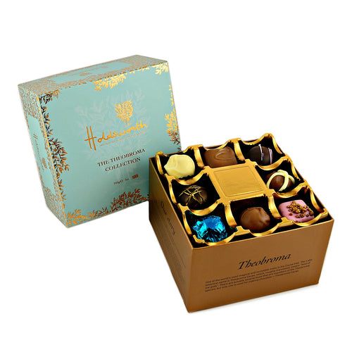 Blue Theobroma Collection Chocolates