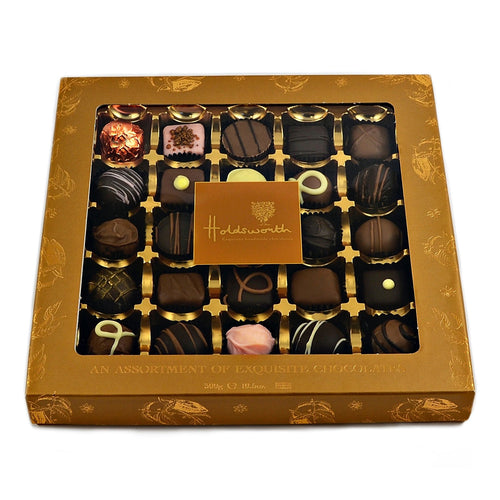 Luxury assortment chocolate window box