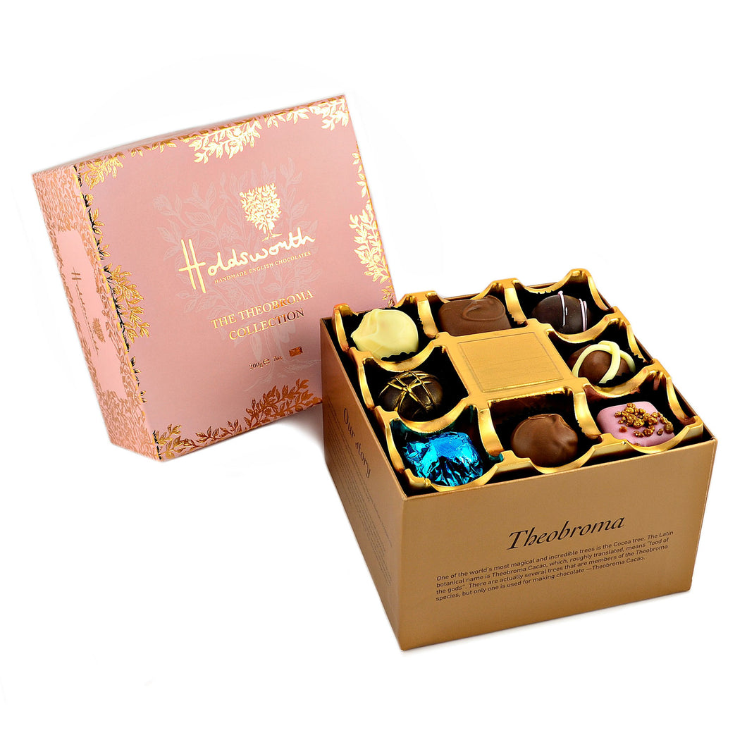 Pink Theobroma Collection Holdsworth chocolates