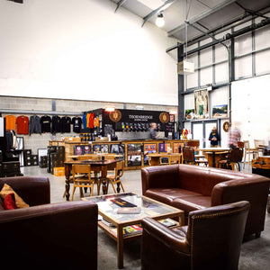 Thornbridge Brewery Barrel room