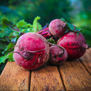 Beetroot on a table