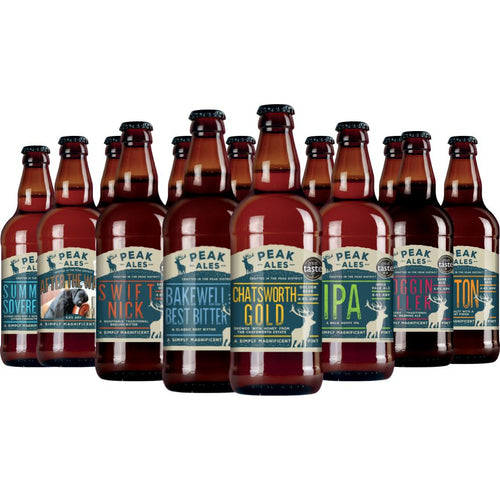 Peak Ales Selection - 12 x 500ml bottle mixed crate - Peak District Deli