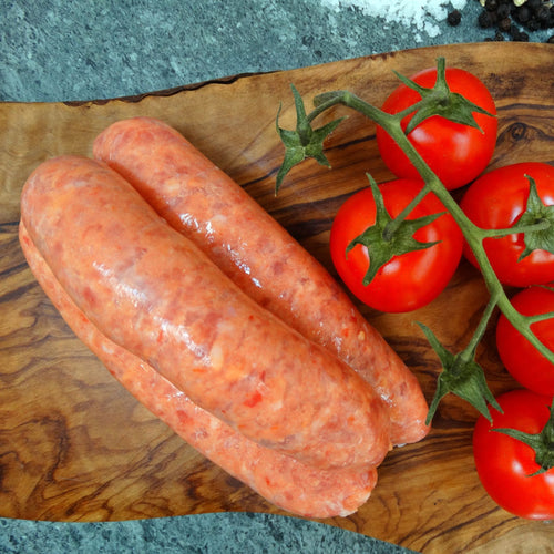Pork & Tomato Sausages - Peak District Deli