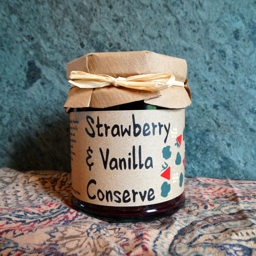Strawberry & Vanilla Conserve - 215g - Peak District Deli