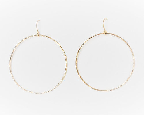 Large Halo Gold Hoop Earrings